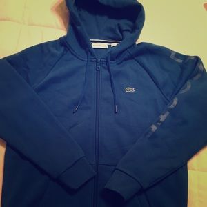 Lacoste womens zip hoodie with tags new size 36